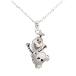 $4.27 Disney® Frozen Silver- Plated Olaf the Snowman Pendant
