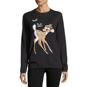 Markus Lupfer x Disney� Bambi Sequined Natalie Jumper, Charcoal