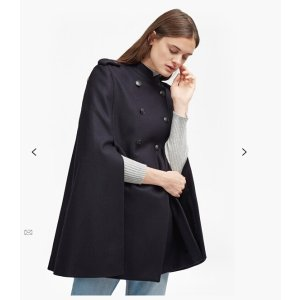 Platform Felt Double Breast Cape | Jackets | French Connection Usa