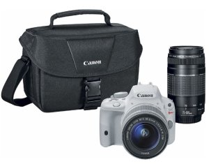 Canon  EOS Rebel SL1 DSLR Camera with 18-55mm STM and 75-300mm III Lenses