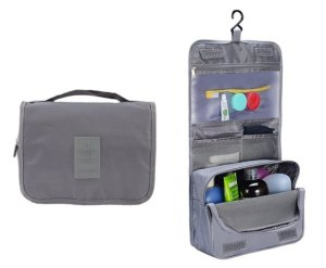 Portable Hanging Toiletry Bag and Travel Organizer