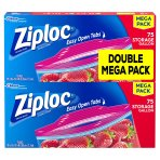 $15.25 Ziploc Storage Bags Gallon Mega Pack, 150 Count