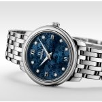Omega De Ville Blue Dial Diamond Ladies Watch 424.10.27.60.53.003