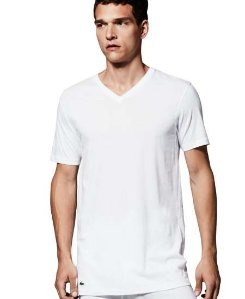 $22.01 Lacoste Men's 3-Pack Essentials Cotton V-Neck T-Shirt
