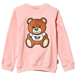 Moschino Pink Bear Applique Sweatshirt