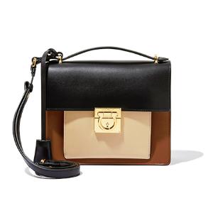 Small Gancio Lock Shoulder Bag - Salvatore Ferragamo