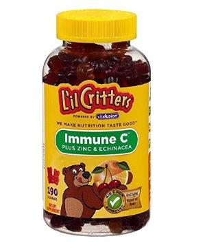 $8.39包邮L'il Critters 小熊免疫C+锌+紫锥菊软糖 190粒