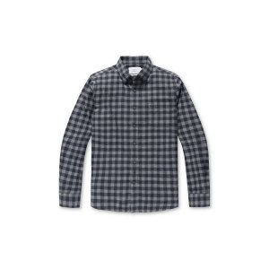 [Day & Night] mix gingham check cotton shirt(SLIM FIT)