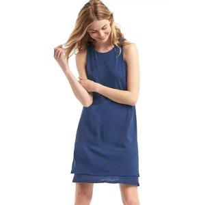 A-line layered tank dress