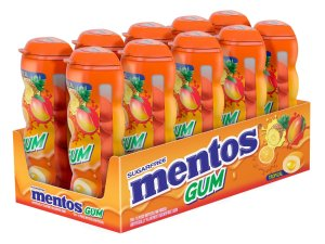Mentos Gum Pocket Bottle, Tropical, 1.06 Ounce (Pack of 10)