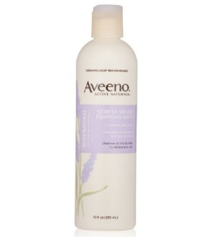 $3.84 Aveeno Active Naturals Stress Relief Foaming Bath, 10 Ounce