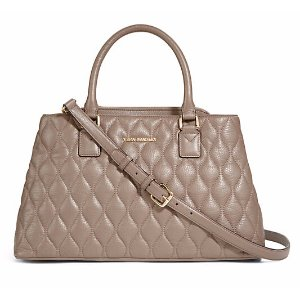 Quilted Emma Satchel in Taupe
