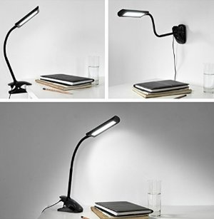 LED Desk Lamps, Oak Leaf 5W Clip on Touch Control Dimmable LED Table Lamp for Reading Studying or Bedtime