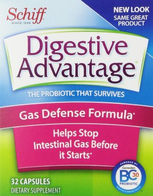 $9.47 + Free Shipping Digestive Advantage Probiotics - Gas Defense Formula Probiotic Capsules 32 Count (Pack of 3)