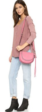 $98.52 Rebecca Minkoff Unlined Saddlebag Shoulder Bag