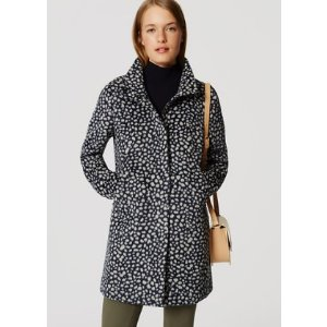 Spotted Funnel Neck Coat