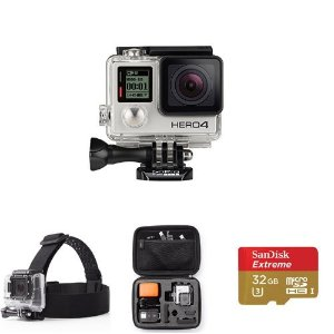 $344.99 GoPro HERO4 Silver - Accessories Bundle