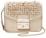 Metropolis Mini Woven Metallic Leather Crossbody by Furla