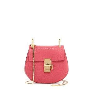 Chloe Drew Mini Lambskin Shoulder Bag, Pink