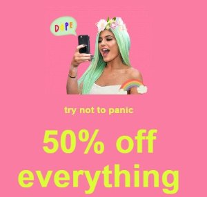 24 hours only!50% OFF Everything @ Missguided