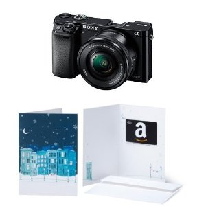 $548 Sony Alpha a6000 Mirrorless Camera w/ 16-50mm Lens + $50 GC