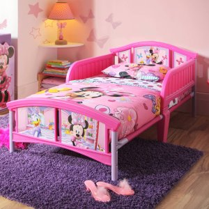 $39Disney Minnie Mouse Plastic Toddler Bed