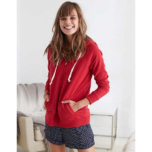 Aerie Zip-Up Hoodie , Red Velvet | Aerie for American Eagle
