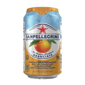 $11.23 San Pellegrino Sparkling Fruit Beverages,Aranciata/Orange 11.15-ounce cans (Total of 24)