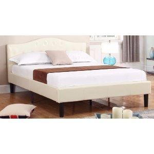 Full Size Platform Bed   Sofa Mania - BDS04-PU-IV-FULL - Sofamania