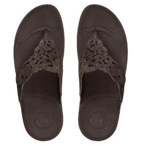 FitFlop Flora Suede Flip Flops Bronze | Official FitFlop Store