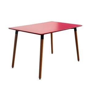 Modern Natural Wood Table   Wood Leg Dining Table - Sofamania