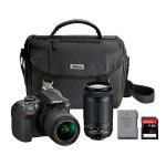 Nikon D3400 DSLR Camera 2 Lens Bundle