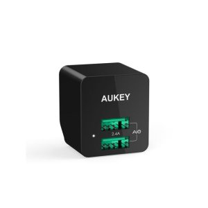 Aukey 12W / 2.4A Home Travel USB Wall Charger Adapter with AIPower Tech for Apple and Android Devices – NeweggFlash.com