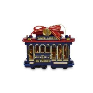 Ghirardelli Chocolate Cable Car Ornament - Premium Chocolate SQUARES - San Francisco Souvenirs