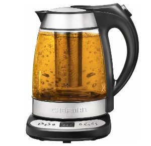 Chefman - 1.7L Precision Electric Kettle - Clear