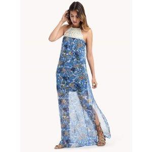 Tahiti Garden Macrame Dress