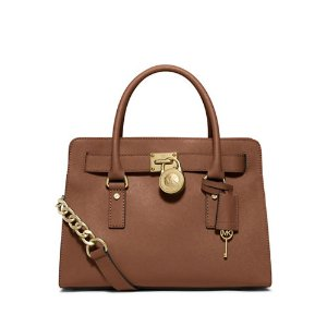 Saffiano Leather Satchel | Lord & Taylor