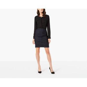Pencil Skirt | Medium Wash Denim | Dockers® United States (US)