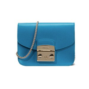 FURLA METROPOLIS CROSSBODY MINI TURCHESE