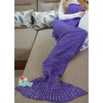 Hughapy Mermaid Tail Blanket Crochet and Mermaid Blanket for adult, Super Soft Sleeping Blanket(71