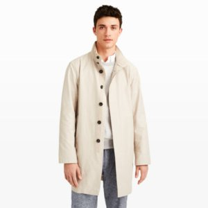 Men | Outerwear | Lightweight Funnel-Neck Coat | Club Monaco