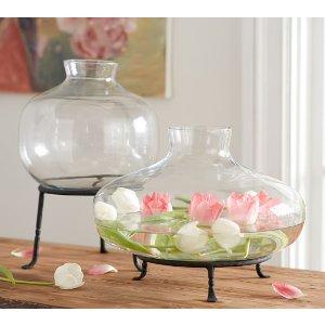 Irving Glass Vases   Pottery Barn