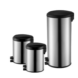$19.88 Exclusive 3 Pc. Stainless Stell Trash Can Combo