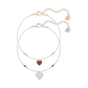 Crystal Wishes Heart Bracelet Set, Red - Jewelry - Swarovski Online Shop