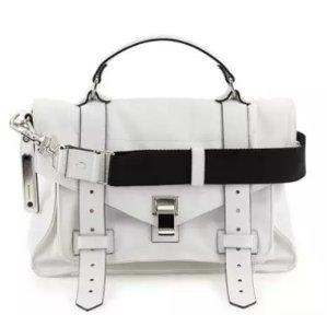 Proenza Schouler PS1 Medium Nylon Satchel Bag,Optic White @ Bergdorf Goodman
