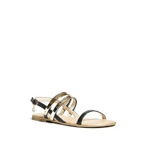 Hanni Metal-Plaque Sandals | GbyGuess.com