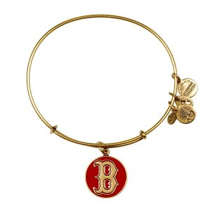 Red Boston Red Sox Cap Logo Charm Bracelet | Alex and Ani