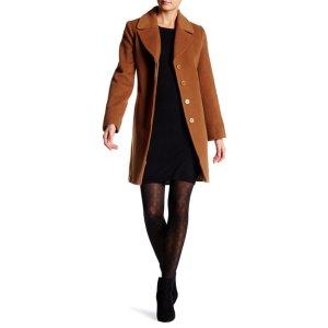 Fleurette Wool Blend Coat