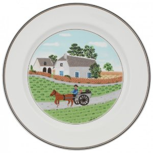 Design Naif Dinner Plate #1 - Going To Market 10 1/2 in - Villeroy & Boch