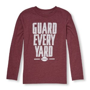 Boys Long Sleeve 'Guard Every Yard' Football Graphic Tee | The Children's Place